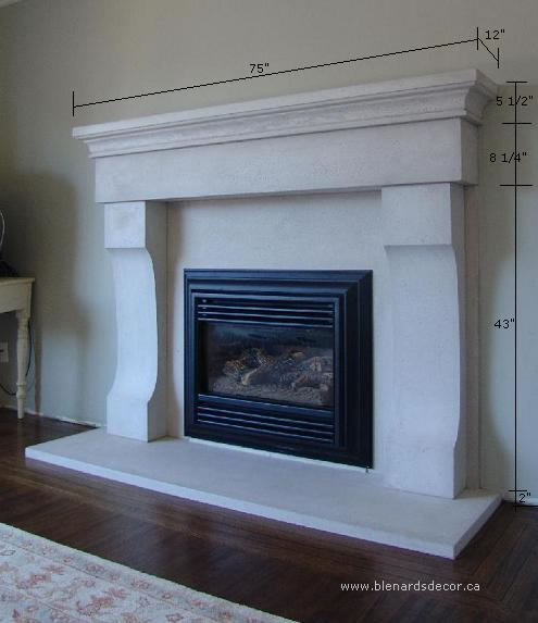 Fireplace Mantel 03 With Dimensions