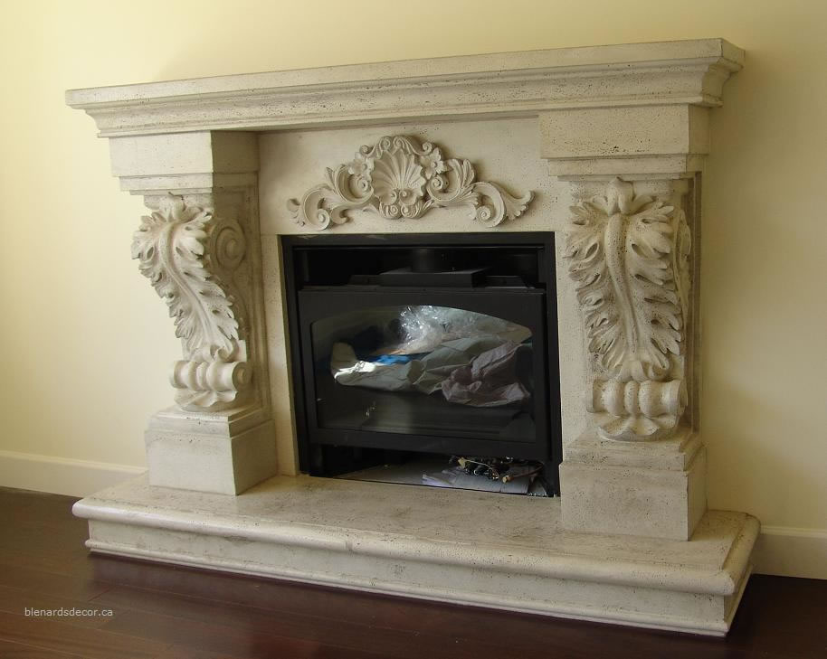 fireplace mantel 05 2 antique limestone