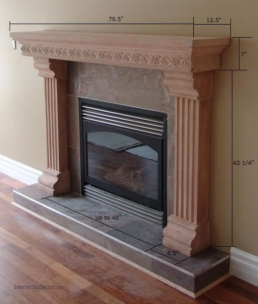 fireplace mantel 15 with dimensions cast stone