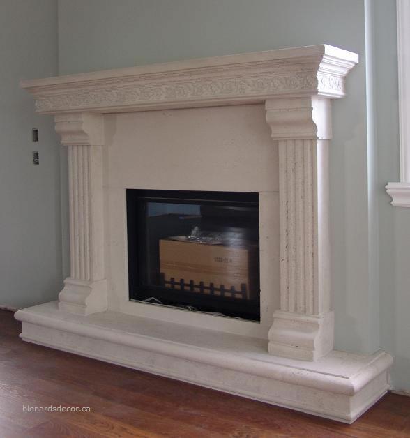 Fireplace Mantel 15-4 Limestone