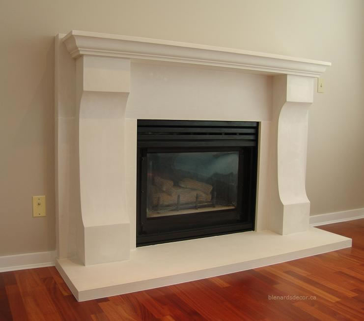 cast stone fireplace mantel images